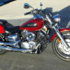 2009 V STAR 1100 Custom 7350 klics Fresh Safety YAMAHA RED POPS