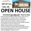 Open House Sat. noon to 3pm; Bungalow Home For Sale, Taber