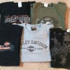 Harley Davidson Large T-Shirts (5) Sold as a lot $30.00